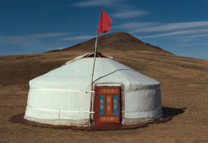 The tent's brother, Ger, on holiday in Mongolia