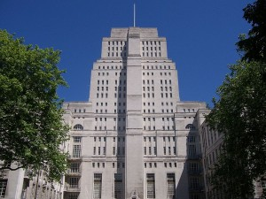 Senate House at the University of London, considered to be the model for the Ministry of Truth building in George Orwell's 1984.