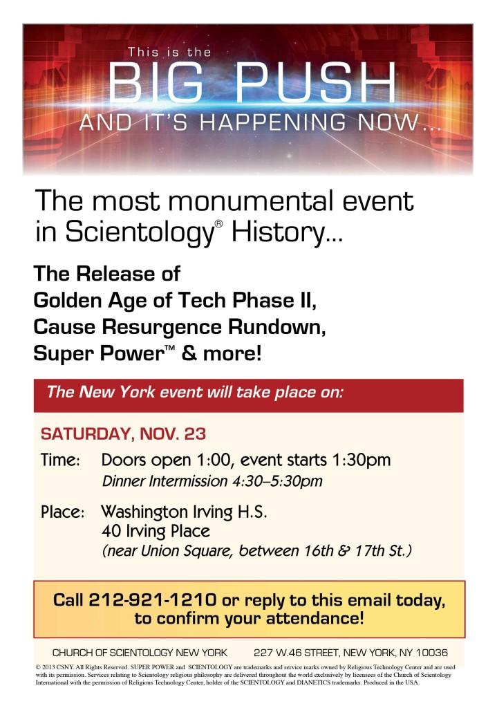 New York GAT 2 video broadcast invitation