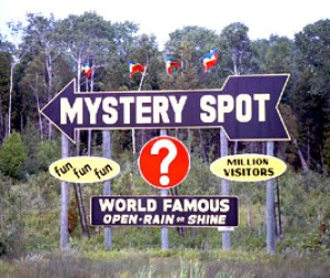 A mystery spot... where they serve a great mystery sandwich in the snack bar.
